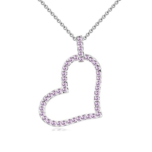 Daesar Gold Plated Women's Heart Necklace Rhinestone CZ Pendant Necklace for -