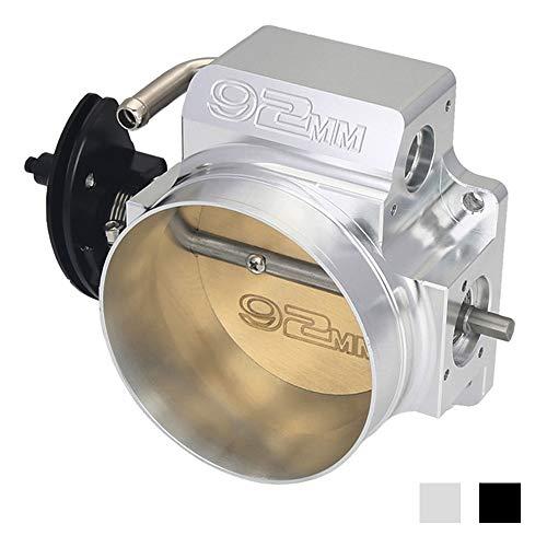 Kyostoar 92mm Intake Throttle Body, LS 4 bolt throttle body for GM Gen III Ls1 Ls2 Ls3 Ls6 Ls7 Sx Ls 4 CNC (Sliver)