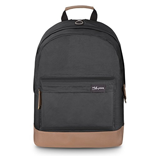Amazon.com: HollyHOME 17 inch Student Book Bag Waterproof Travel Daypack Sport Backpack, Black: hollyland