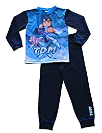 Dan TDM You Tube Heroes PajamaThe Diamond Minecart Pajamas 7 to 13 Years