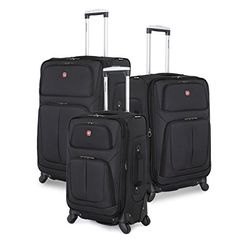 SwissGear 3 Piece Spinner Wheel Suitcase Set - Softshell & - Outlet Suit Wet