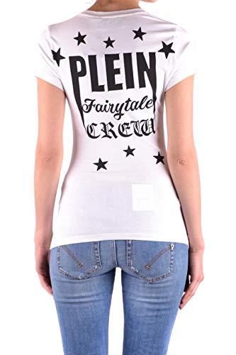 Philipp Wtk0658pjy002n01 Plein shirt T Femme Coton Blanc 6P1xnq46w