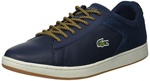 Lacoste Mens Carnaby Evo 417 1 Sneaker Blu / Giallo