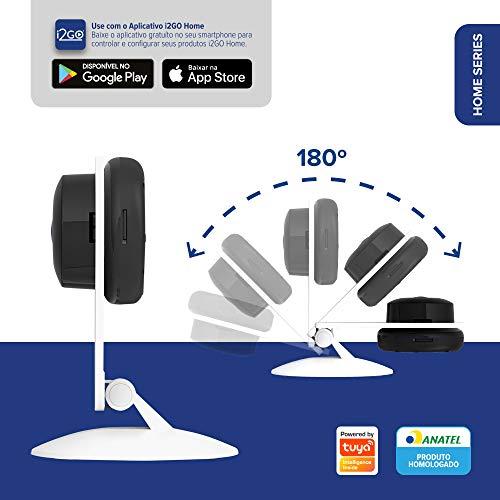 Câmera Inteligente Wi-Fi Slim FULL HD 1080p I2go (I2GO0) Home, I2GOTH738, Branco/Preto