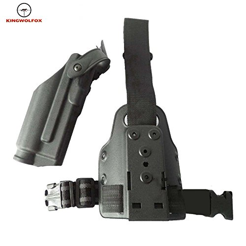Kingwolfox Quick Release Tactical Drop Light Bearing M6 TLR-2 Right Leg Thigh Holster for Glock 17 18 19 21 22 23 26