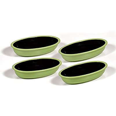 Ovenex 24 oz. Oval Ceramic Baking & Serving Dish – 4 Pack