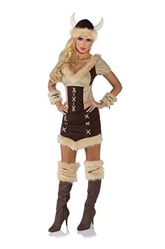 Sexy Viking Warrior Costumes (Underwraps Costumes Women's Viking Queen Costume, Brown/Tan, Small)