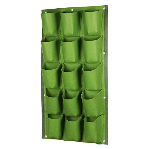 Wall Hanging Planter, Glovion Vertical Wall Mount Planter Garden Grow Bags Hanging Wall Planter -15 Pockets Review