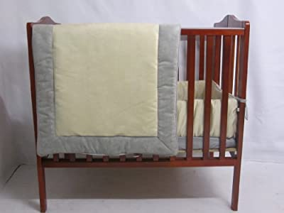 Baby Doll Bedding Zuma Port-A-Crib Bedding Set, Grey/Beige from Baby Doll Bedding