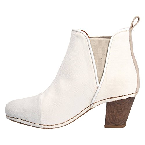 ART Botin 1272T Wax Canvas Blanco Blanco