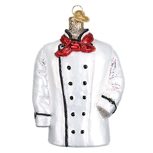 Christmas Ornament Chef - Old World Christmas Chef Glass Blown Ornament (Coat)
