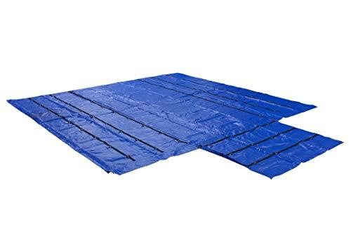 (Heavy Duty 18oz Lumber Tarp 20' x 18' Steel Tarp (20' x 18' - Blue (6' Drop)))