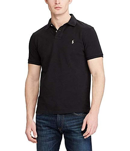 Polo Ralph Lauren Mens Pique Short Sleeves Polo Black M ()