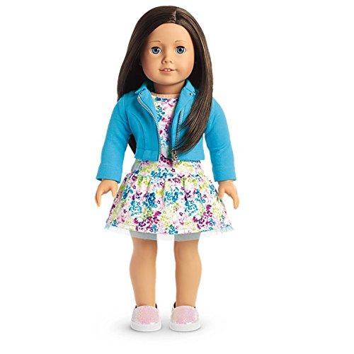 American Girl - 2017 Truly Me Doll: Blue Eyes, Black-Brown Hair, Light Skin Tone - Girl Haired Brown