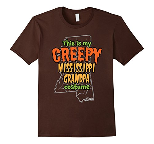Mens Creepy Mississippi Grandpa Redneck Halloween Costume T-shirt Small Brown