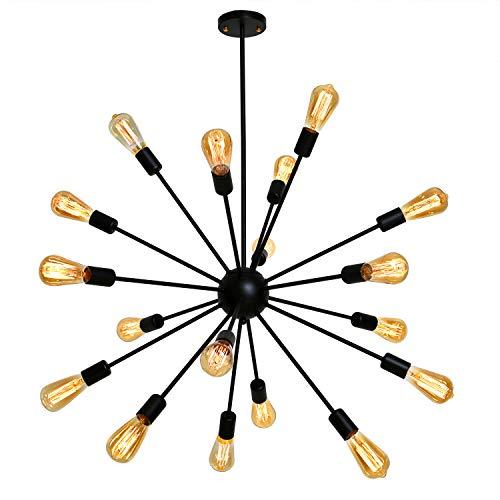 - Fuloon Sputnik Chandelier Vintage Edison Industrial Loft Droplight Lamp Metal Large Pendant Hanging Light