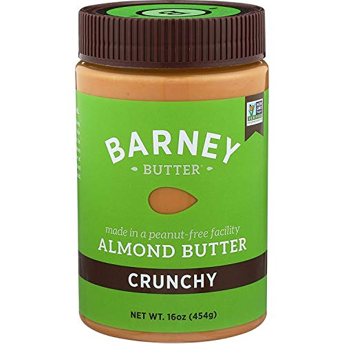BARNEY Almond Butter, Crunchy, Paleo Friendly, KETO, Non-GMO, Skin-Free, 16 Ounce 1
