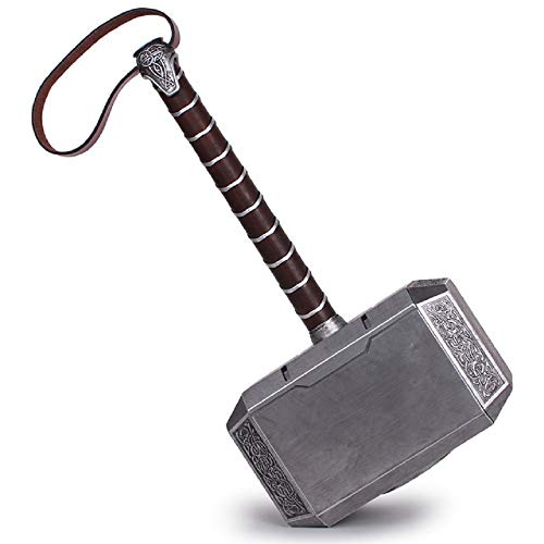 (Lonme 20cm Thor's Hammer Alloy Metal Made Cosplay Prop Thunder Hammer Collector Toys (L: 7.9inch))