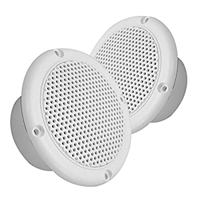 Magnadyne 3 INCH Dual Cone Speaker/Grill - Polypropylene Woofer Cone 2.8 oz Magnet Sold AS A Pair (White): Home Audio & Theater
