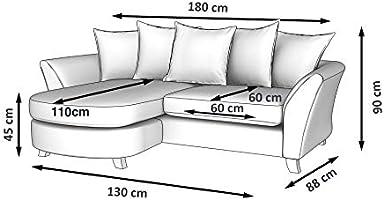 Swell Galaxy Design Keira Mini L Shape Sofa Pure Poly Cotton Machost Co Dining Chair Design Ideas Machostcouk