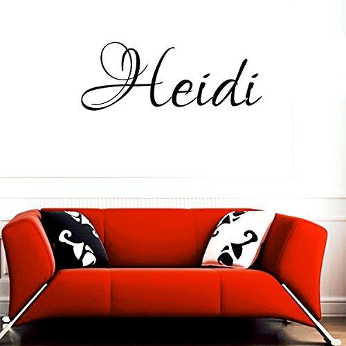 Heidi girl name boy name letters childrens room VINYL WALL ART STICKER DECAL (Heidi Vinyl)