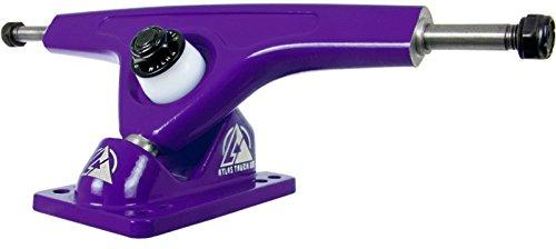 Atlas Truck Co. Kingpin Ultralight Longboard Trucks, 180mm 48 Degree 8mm Reverse, Purple (Set of 2)