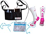 Heal in Comfort Breast Cancer Mastectomy Drain Pouch Holder Compression Socks