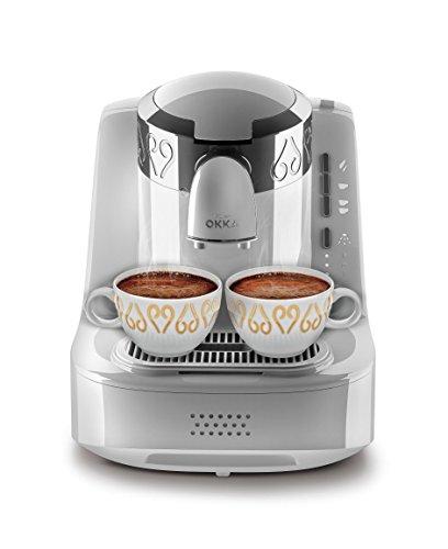 Arzum Okka OK002W Automatic 120V Turkish/Greek Coffee Machine, White/Chrome (Silver)