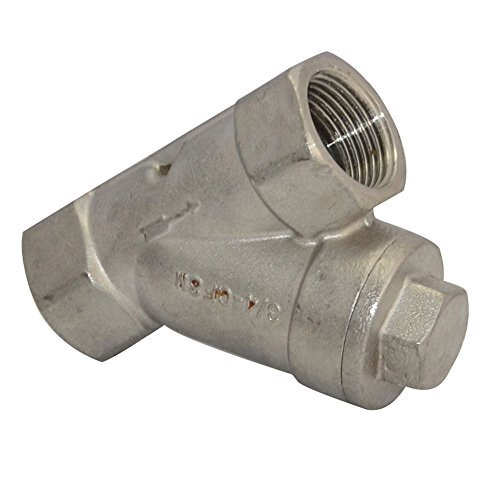 3/4 WYE STRAINER Mesh Filter Valve 800 WOG Stainless Steel SS316 CF8M NEW by ()