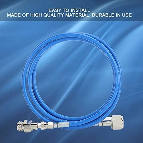 A sixx Kit Adattatore per Tubo Flessibile CO2, 2,5 m/8,2 Piedi G1/2-14 CGA320 Kit Adattatore per Tubo Flessibile ad Alta Pressione per Serbatoio di CO2 per Flusso di Soda - Blu