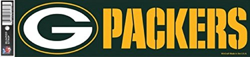 WinCraft NFL Green Bay Packers Decal Bumper Sticker, Team Color, One Size