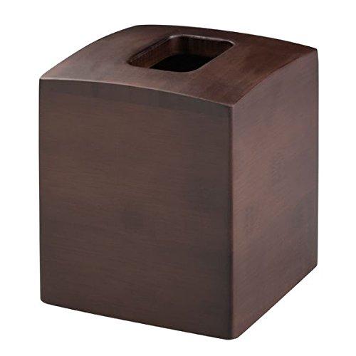 Mdesign Facial Tissue Box Cover Holder For Bathroom Vanity Countertops Espresso Home Garden