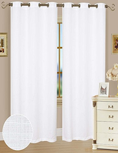Solid Window Curtain Panel 38 x 84″ White – One Panel