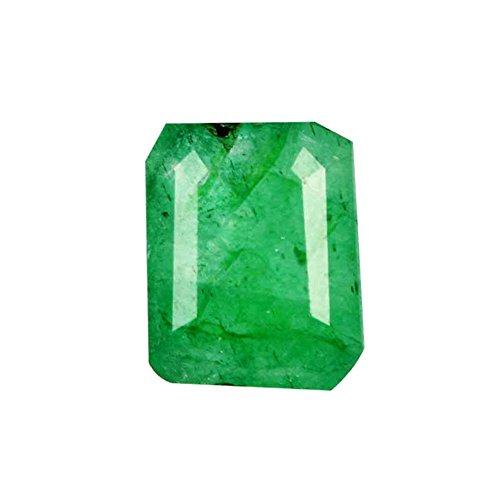 3.75 Carat Natural EGL Certified Brilliant Emerald Cut 10 x 8 mm Green Emerald Loose Gemstone For Ring