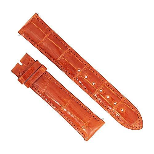 Alligator Strap Orange (Swiss Watch International 20 MM Orange Genuine Alligator Strap 20AAT27M)