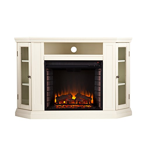 Claremont Convertible Media Electric Fireplace - White/Ivory