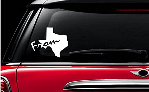 StickerLoaf Brand FROM TEXAS home state pride decal decals car window sticker ANY COLOR ANY - Sports Stores Dallas In Tx