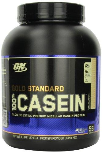 Optimum Nutrition 100% de caséine protéine, la vanille crémeuse, 4 Pound