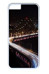 Bridge night lights long Exposure Custom iphone 6 plus Case Cover Polycarbonate White