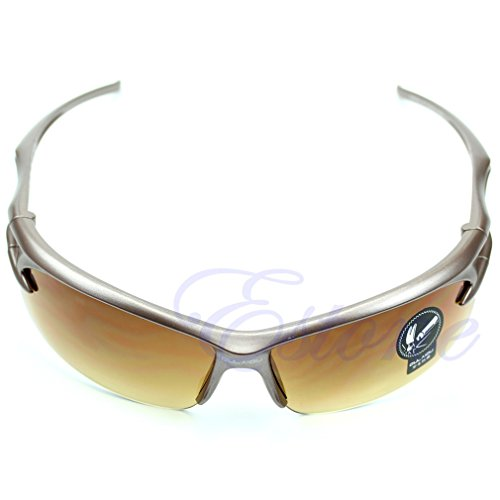Bestmembering 1 Pieces Cycling Riding Running Motocycle Sports UV Protective Goggles Sunglasses Champagne