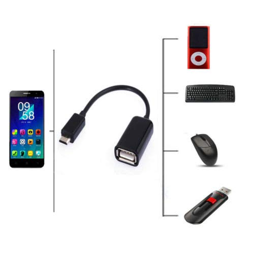 OTG Host Data Sync Cable Cord Lead to USB Flash Drive for Motorola Moto Z2 Force