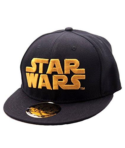 de algodón con gorra amantes con ajustable para dorado Star ancho visera de la oficial gorra logotipo negra plana los la licencia saga Wars el wBqxxYO7