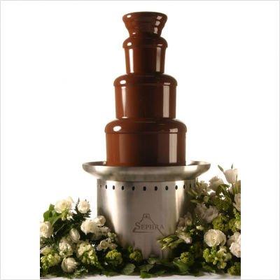 Sephra Chocolate Fondue Fountain ~ Professional Stainless Steel ~ Montezuma 34-inch Tall Tower