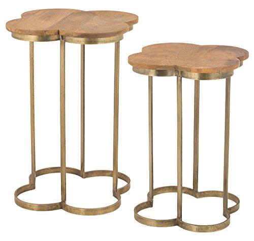 - Gold Leaf Quatrafoil Accent Table