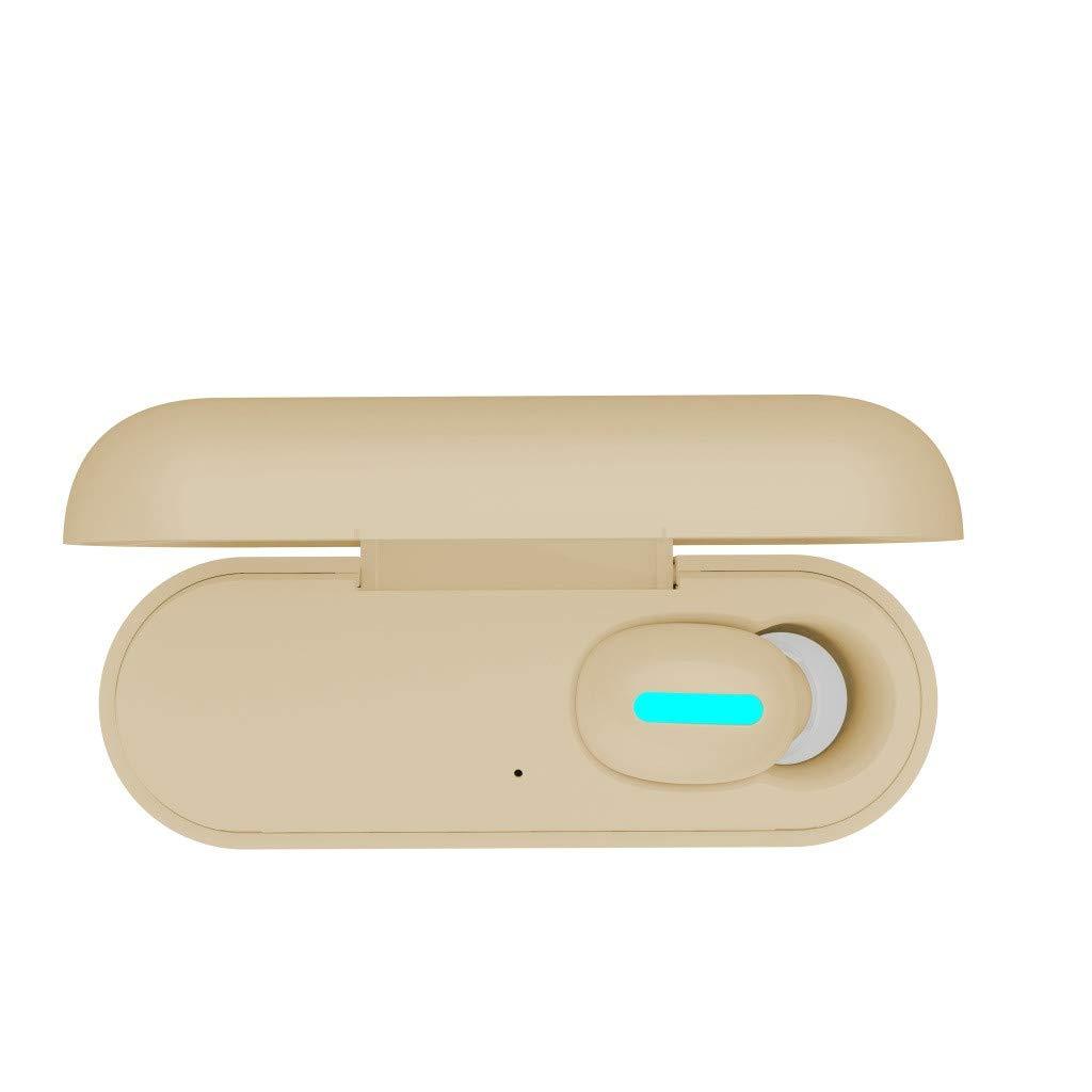 BOOMdan Single Wireless-Earbuds, True Wireless-Bluetooth-Earbuds TWS Headphones in-Ear Stereo Bluetooth V5.0 Earphone Built-in High Definition Mic