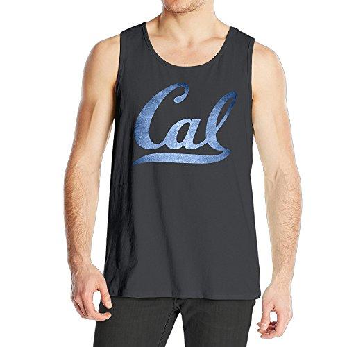 Cal Bears Black Pond Logos Men's Cotton Tank Top Black