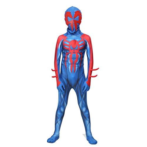 FUTUAN Spider 2099 Spiderman Miguel O'Hara Cosplay Costume (L, Kids)]()