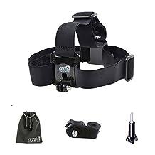 EEEKit Kids Child Head Strap Mount for VTech Kidizoom Action Cam,Go Pro Hero5/Hero5 Session/Hero4/Hero3/Hero3+,AKASO EK7000,APEMAN 4K,YI 4K/4K+,Campark ACT74/ACT76 Action Camera