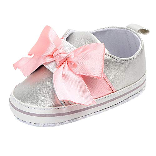 Amazon.com: WUAI Baby Girls Shoes Soft Sole Bowkont First Walking Canvas Shoes Bowknot No-Slip Princess Shoes: Clothing