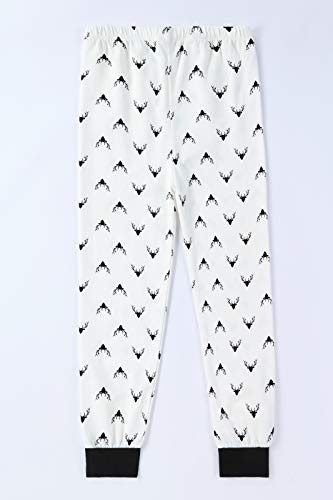 Benaive Family Xmas Pajamas Set Boys Girls Holiday Pjs Women Men Sleepwear (White, Reindeer, 6)